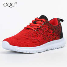 Купить с кэшбэком OQC Women's Breathable Running Shoes Outdoor Jogging Walking Lightweight Comfortable Trainers Shoes Sports Fitness Sneakers D30