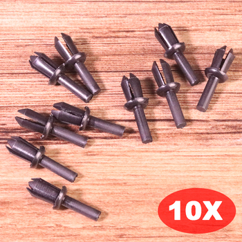 10Pcs/Set Plastic Black Fender Liner Rivet Clip 51161881149 Replacement Fit For BMW E12 E28 E30 E34 E36 E39 E46 E60 Accessories image