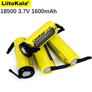 New LiitoKala Lii-16C 18500 1600mAh 3.7 V rechargeable battery Recarregavel lithium ion battery for LED flashlight+DIY Nickel