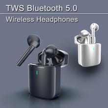 Novo tws sem fio bluetooth 5.0 fones de ouvido estéreo de alta fidelidade fone de ouvido pele-friendly esportes controle de toque à prova dwaterproof água com microfone
