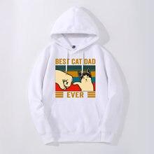 Лучший Кот папа забавный кот принт весна осень Повседневный
