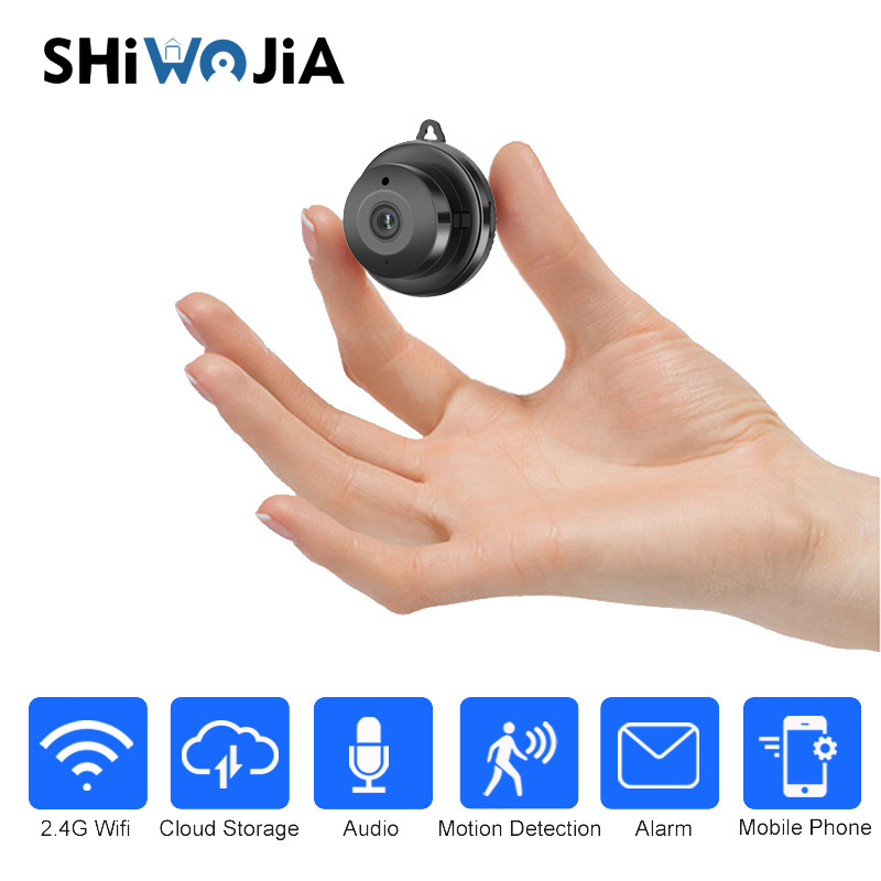 SHIWOJIA Wireless Mini Spy WIFI 720P Hidden IP Camera Cloud Storage Infrared Battery Smart Home Security Baby Monitor Detection