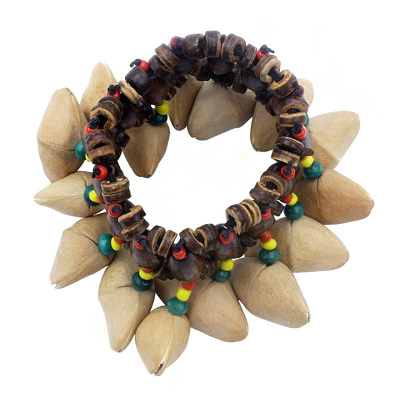 Handmade Nuts Shell Bracelet Handbell For Djembe African Drum Conga Percussion Accessories