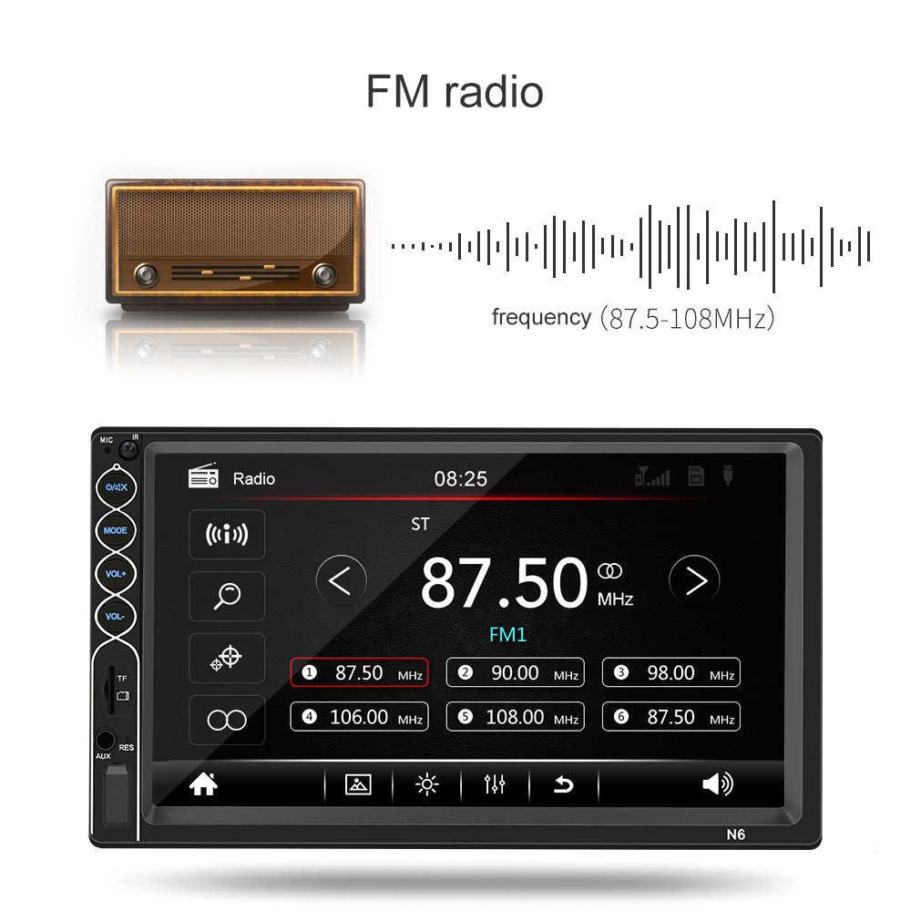 """オートラジオ 2 din カーラジオ 7 """"Hd の Bluetooth マルチメディアプレーヤー 2DIN タッチスクリーンの自動オーディオ、カーステレオ MP5 bluetooth USB TF FM 5"""