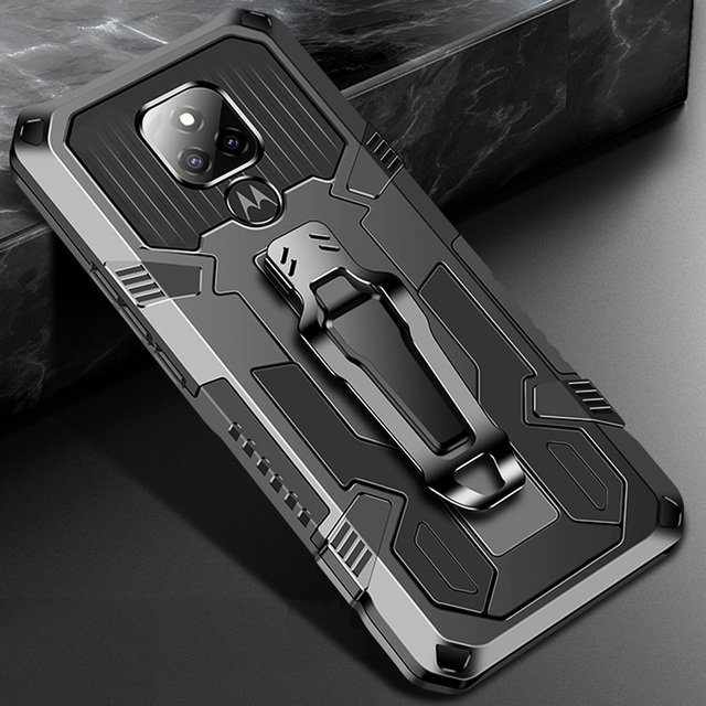 Drop resistance Armor Belt Clip Case For Motorola Moto G Play 2021 High impact Military Rugged Shield Cover