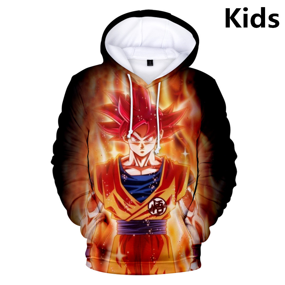 Girls Dragon Ball Z Hoodies  Children  Long sleeves t shirt Hoodies