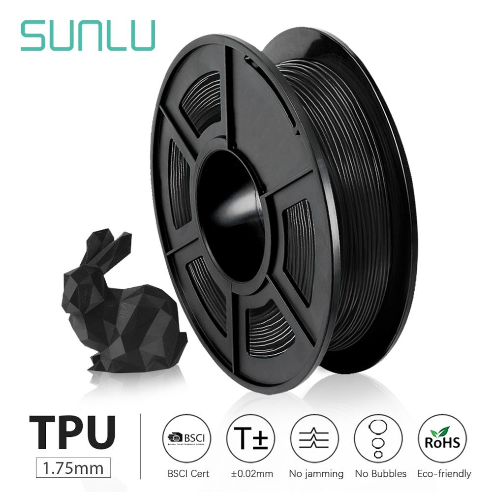 SUNLU TPU 0.5kg Flexible Filament With Full Color 1.75mm For Flexible DIY Gift Or Model Printing Ship With 5 Pieces