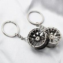 Автомобильный брелок для ключей с ободом колеса для Volkswagen Polo Passat B5 B6 B7 B8 CC GOLF 4 5 6 Vento Arteon