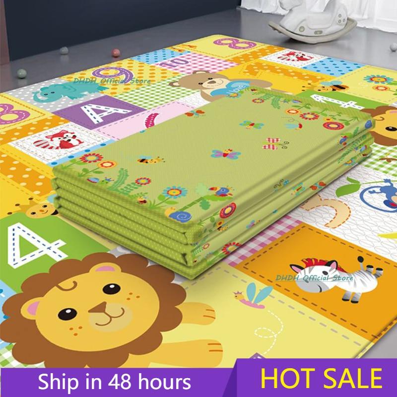 접이식 아기 놀이 매트 퍼즐 보육원에서 교육 어린이 카펫 등산 패드 어린이 깔개 Activitys 게임 완구 180*100cm