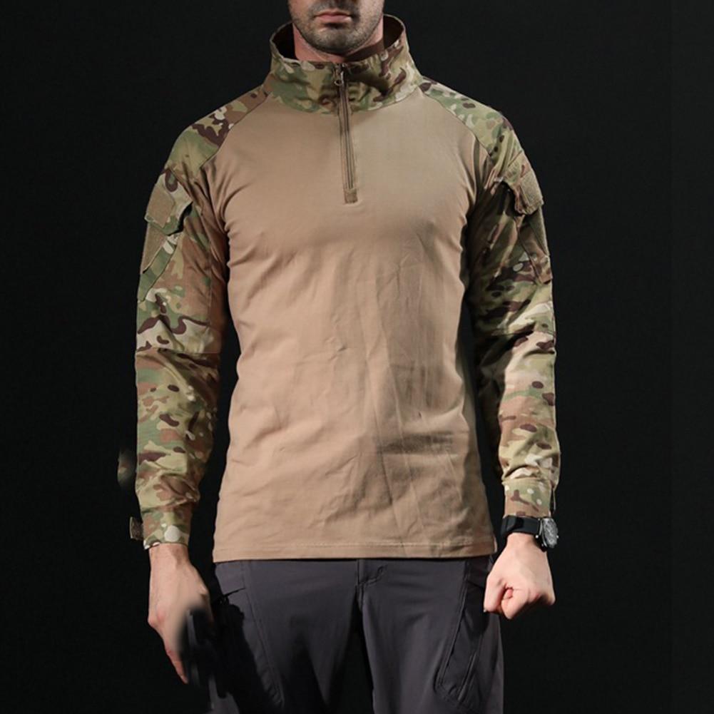 Men Combat Shirt Top Uniform Airsoft Camouflage Combat-Proven Shirts Rapid Assault Long Sleeve Shirt Battle Strike