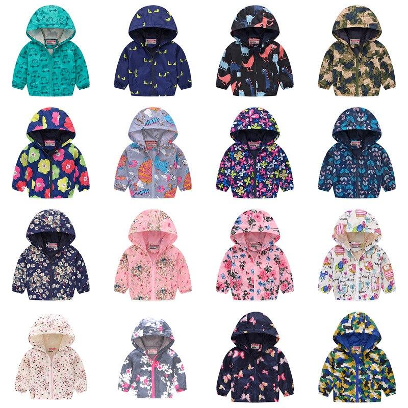 Children Jackets Autumn Spring Kids Outerwear Coats Cute Dinosaur Jackets For Boys Baby Boys Girls Windbreaker Dropshipping
