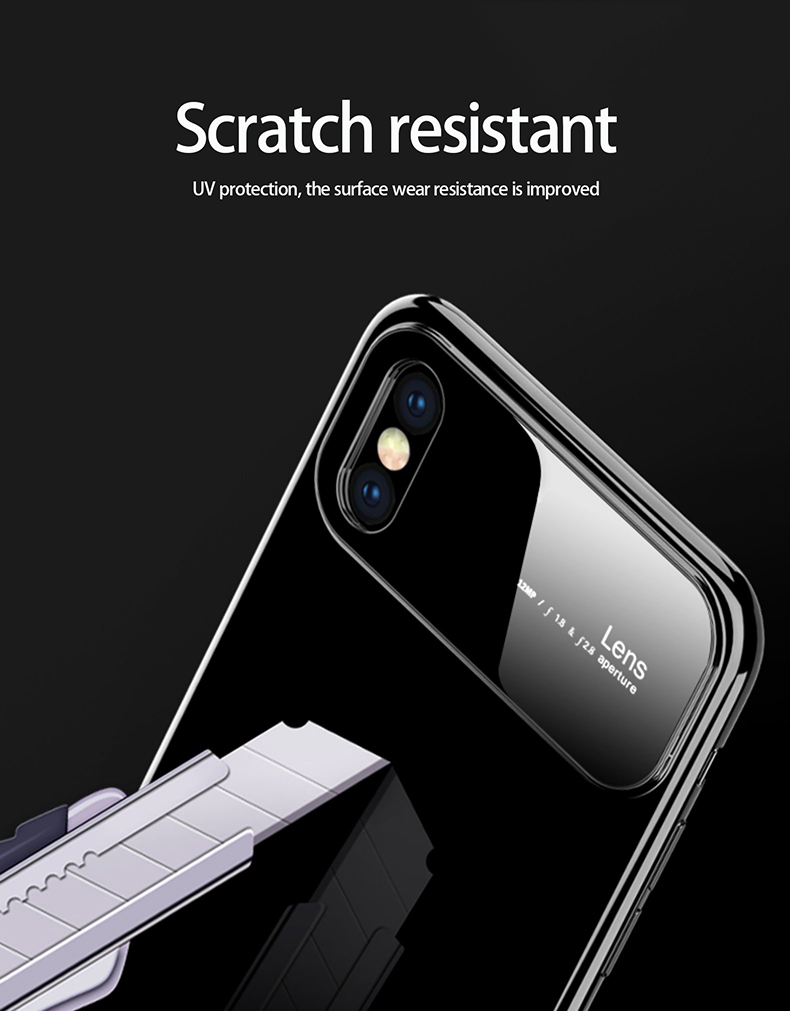 Hc13d3d01f6ee4ec3b00b7836081d7dbdy Plastic shell for iphone X XR XS MAX glass case iPhone 7 8 PLUS 11 Pro MAX ultra-thin anti-fall cover 360° surrounding shell