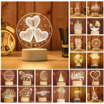 ARILUX 3D Plate LED Lamp Creative 3D LED Night Lights Novelty Illusion Night Lamp 3D Illusion Table Lamp For Home Decorative 1