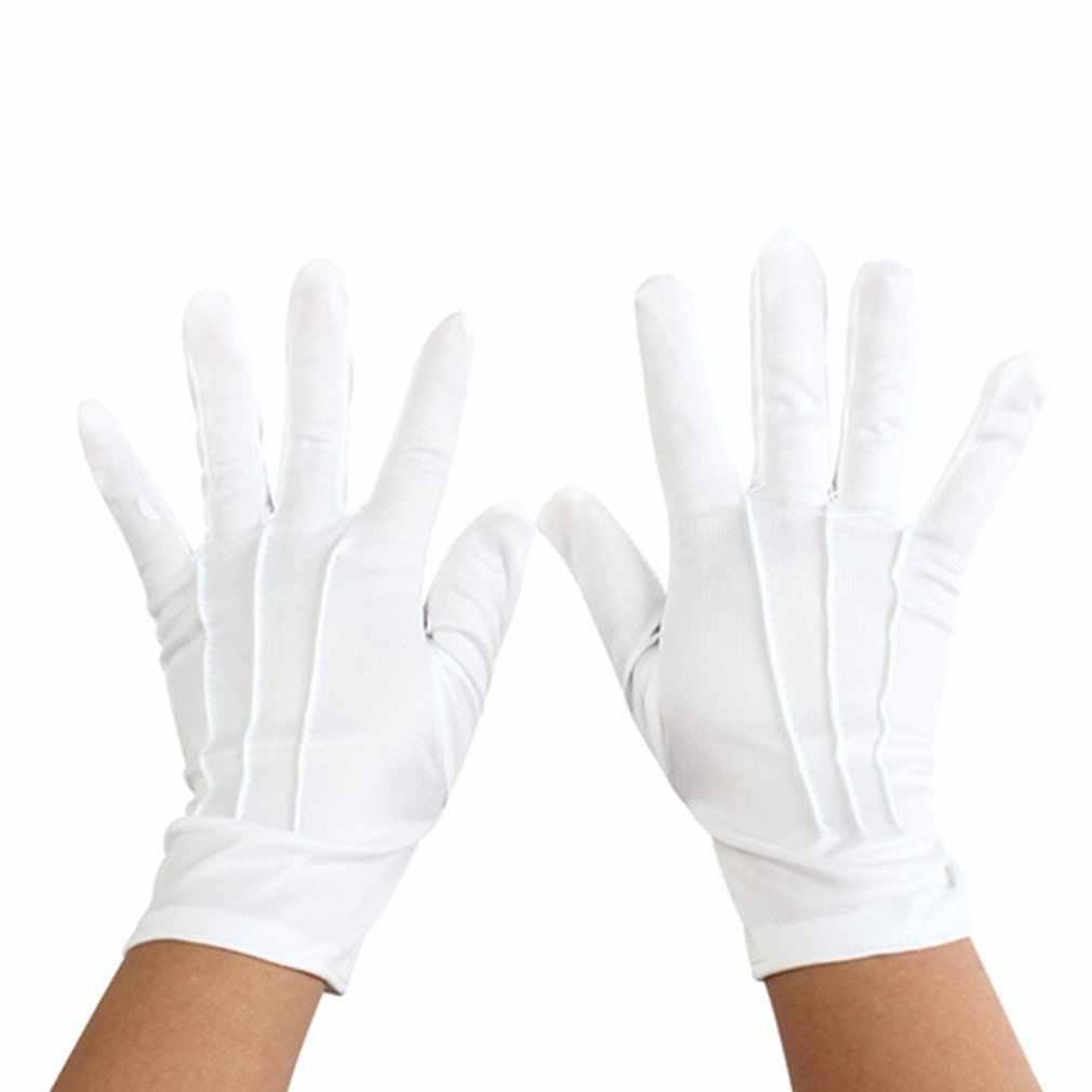 Guanti di cotone bianco lavarsi le mani e proteggere contro i batteri e virus di Sesso Maschile In Cotone Senza Maniche collo Rotondo