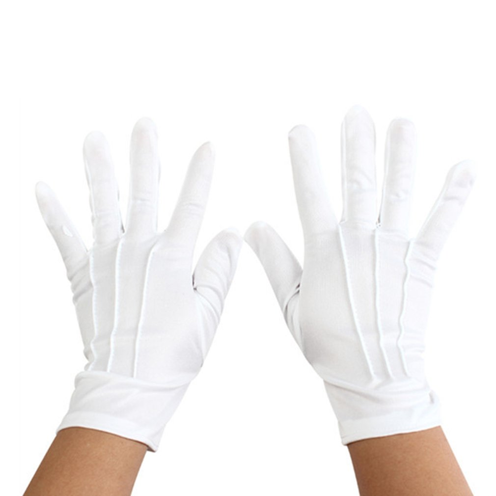 White cotton gloves wash your hands and protect against bacteria and viruses Male Cotton Sleeveless Round neck(China)