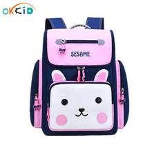 OKKID детские школьные сумки для девочек милый водонепроницаемый рюкзак для начальной школы со светоотражающей полоской детская розовая книга кавайи сумка