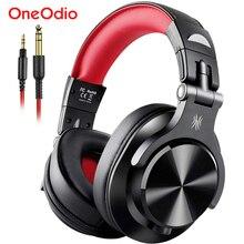 Oneodio A71 מקצועי סטודיו DJ אוזניות על אוזן Wired אוזניות עם מיקרופון סטריאו אוזניות עבור ניטור הקלטה
