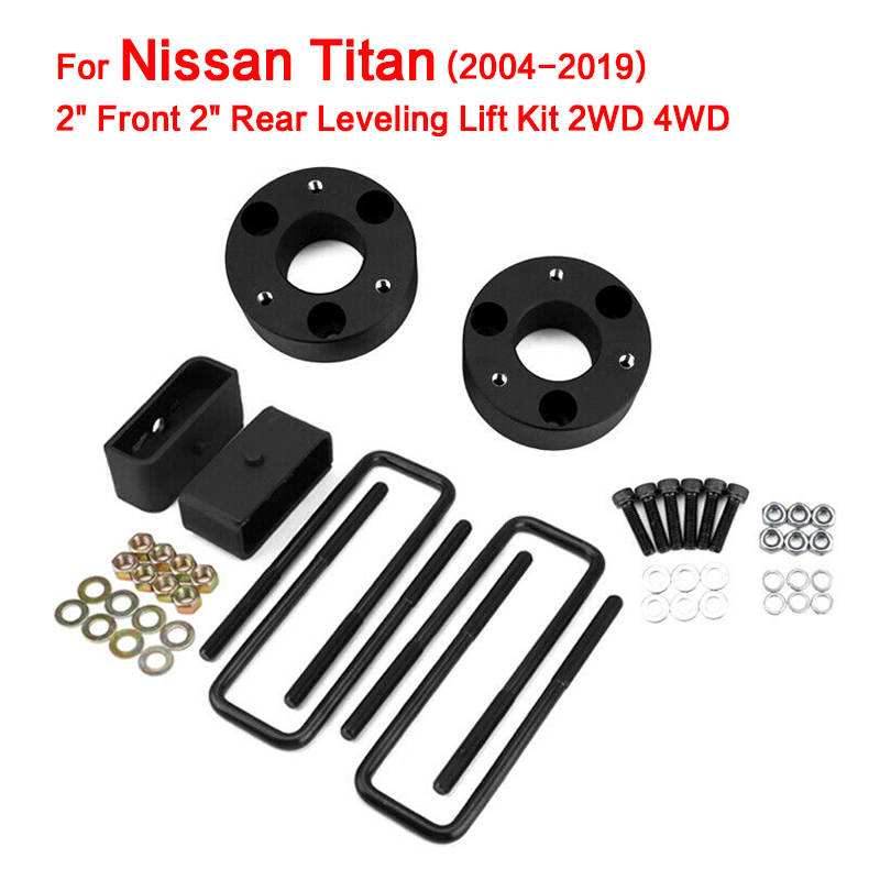 2 Front 2 Rear Leveling Lift Kit 2WD 4WD 2004-2018 for Nissan Titan image