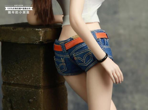 """1/6 Scale Female Clothes Jeans Vest for 12"""" TBLeague Jo UD Action Figures"""