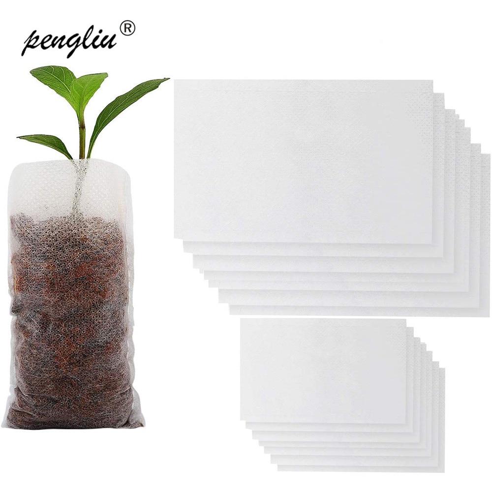 Biodegradable Non-woven Nursery Bags Plant Grow Bags Fabric Pots Seedling-Raising Bags Aeration Environmental Planting Bags
