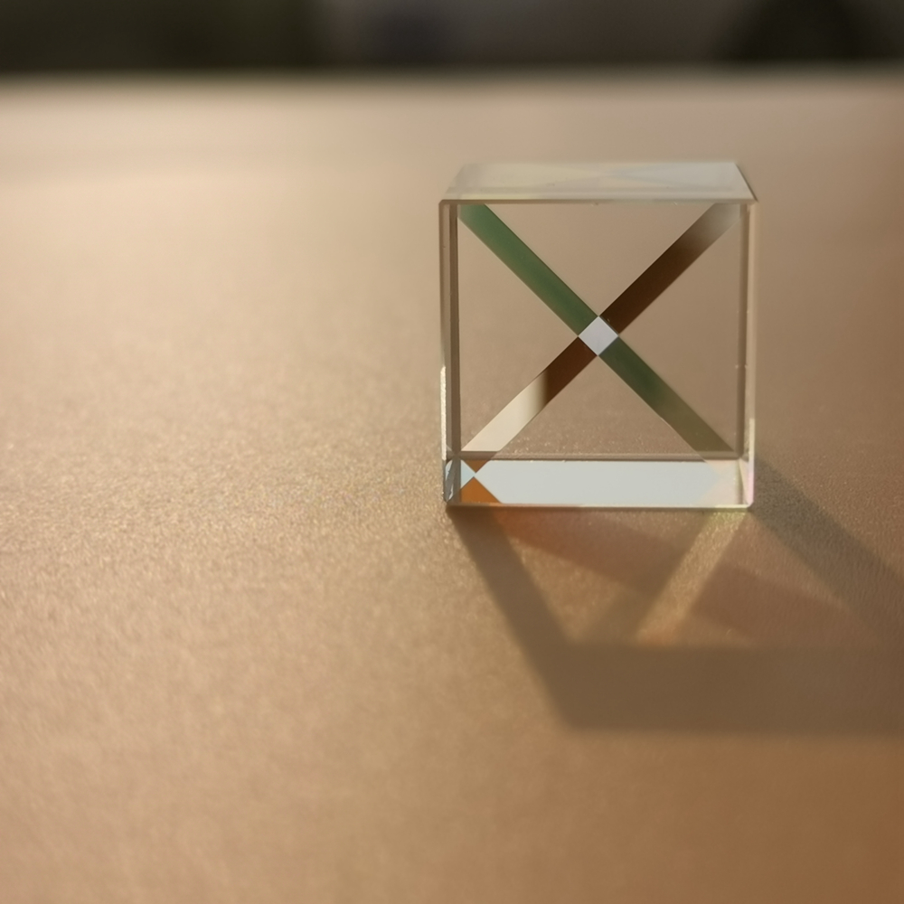 0.5inch 12.7mm Prism Six-Sided Bright Light Combine Cube Prism Stained Glass Beam Splitting Prism Optical Experiment Instrument