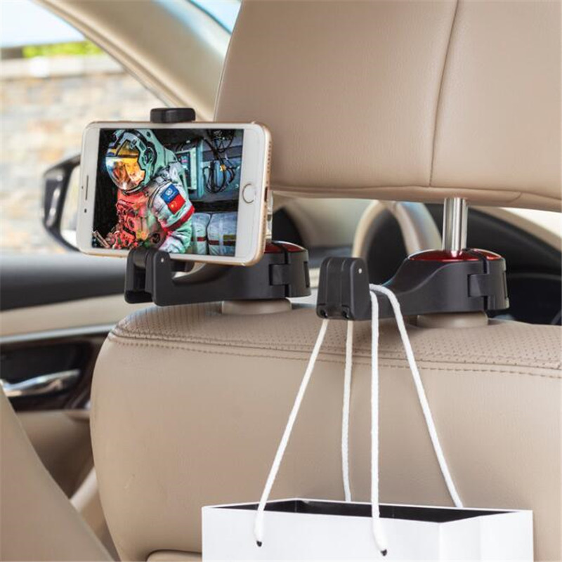 Car Support For 4 Inch-6 Inch Back Row HUD Perspective Car Mobile Phone Stand Holder Navigation Support Bracket Hook Cars