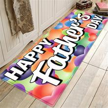 Modern Printed Flannel Area Rug 3D Thickened Father's Day Room Area Rug Floor Carpet For Living Room Bedroom Home Decorative Pad
