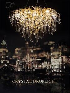 LED Chandelier Lighting Hall-Art-Decor Crystal Lustre Living-Room Large Nordic Luxury