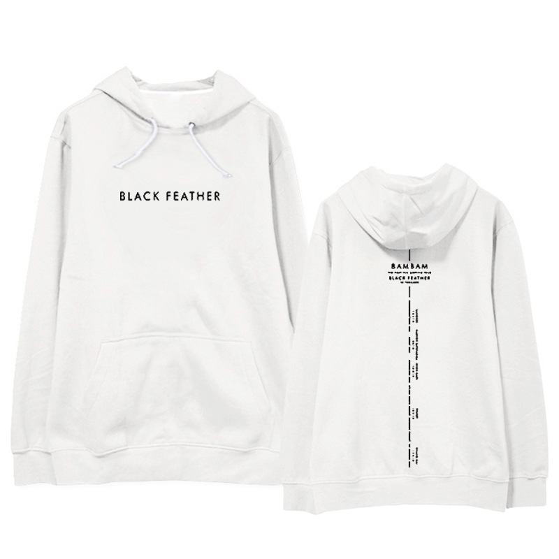 Got7 Hoodie BamBam Black Feather Concert Related Products Should Aid Celebrity Style Hoodie Thin Men And Women