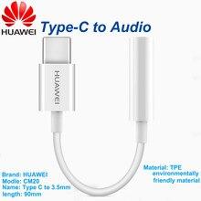 Huawei cabo de áudio tipo c 3.5 jack fone de ouvido cabo usb c para 3.5mm fones adaptador para huawei p10 p20 pro companheiro 10 pro 20