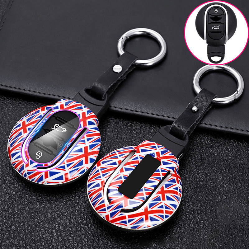 ABS Carbon Fiber Car Remote Key Case Cover Fob For BMW MINI Cooper S One JCW F55 F56 F54 F57 F60 Clubman Countryman Accessories