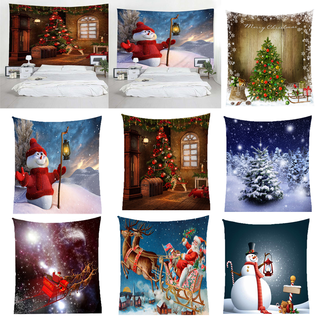 Рождественское искусство настенный гобелен гобелены Рождество