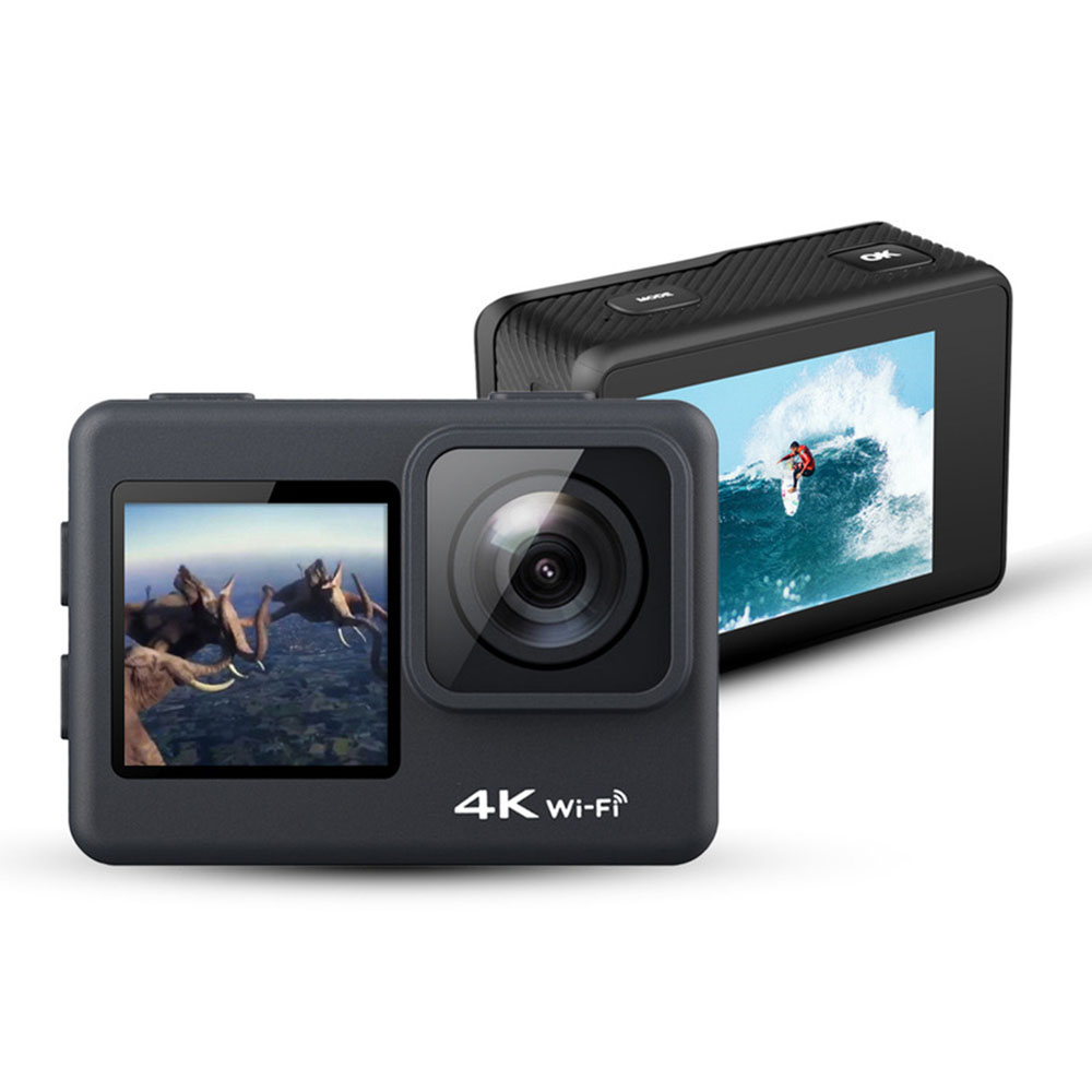 Action Camera 4K 60fps WiFi Outdoor Sport Camera Go Waterproof Pro Touch Screen Dual Screen 24MP 170D Helmet Video Record Camera