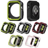 Funda de silicona para Apple Watch, Protector de parachoques de 44mm y 40mm para iWatch de 42mm/38mm, series 6, 5, 4, 3 SE, accesorios