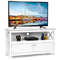 Costway Modern Free Standing TV Cabinet Wooden Console Media Entertainment Center