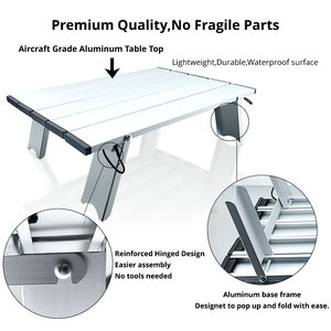 Image 5 - Portable Foldable Folding Table Desk Camping Outdoor Picnic 6061 Aluminium Alloy Ultralight