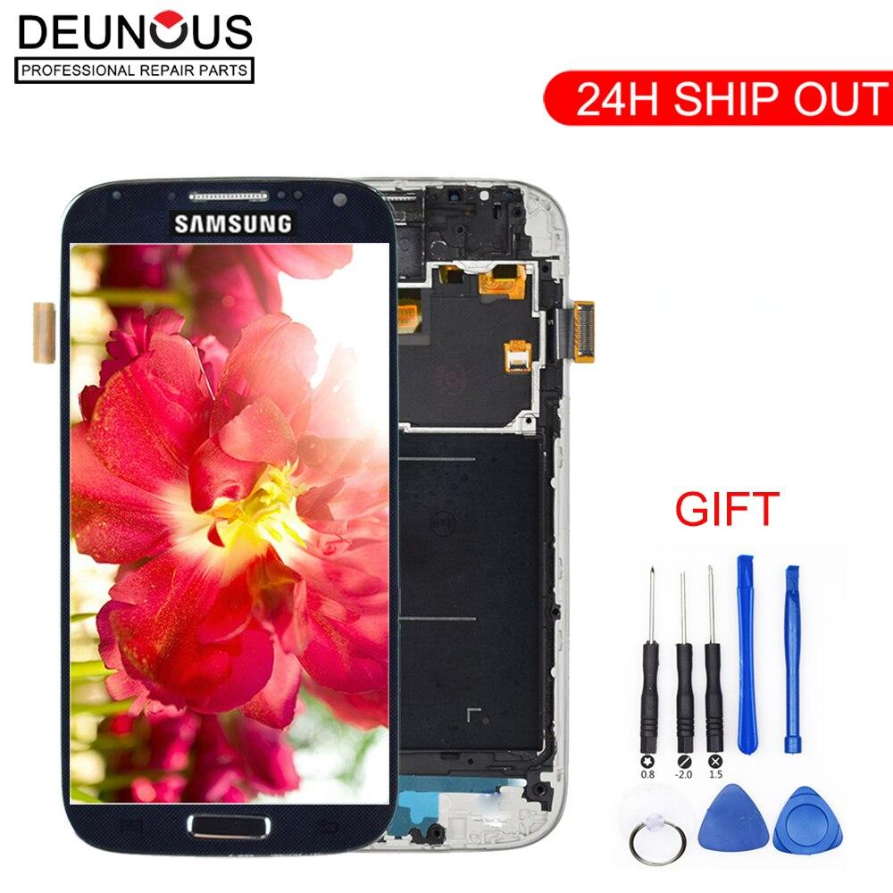 Nova 5 ''Super IPS Display LCD para SAMSUNG Galaxy S4 i9506 i9500 i9505 i337 LCD com Quadro GT-i9505 i9515 digitador Da Tela de toque