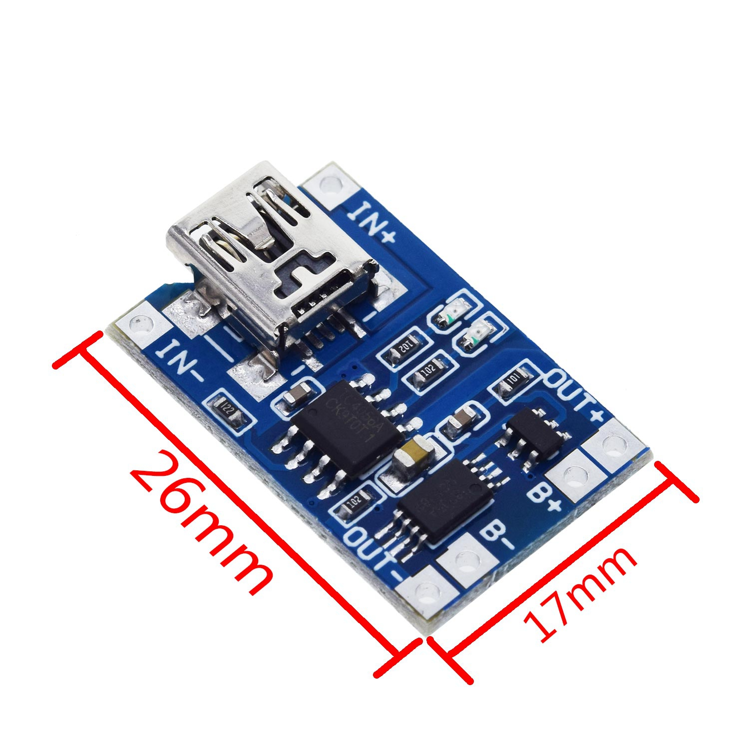 5pcs Micro/Type-c USB 5V 1A 18650 TP4056 Lithium Battery Charger Module Charging Board With Protection Dual Functions 1A Li-ion 4
