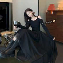 2021 летнее Сексуальное Черное длинное платье Женская одежда в готическом стиле Вечерние Платье в готическом стиле размера плюс в винтажном ...