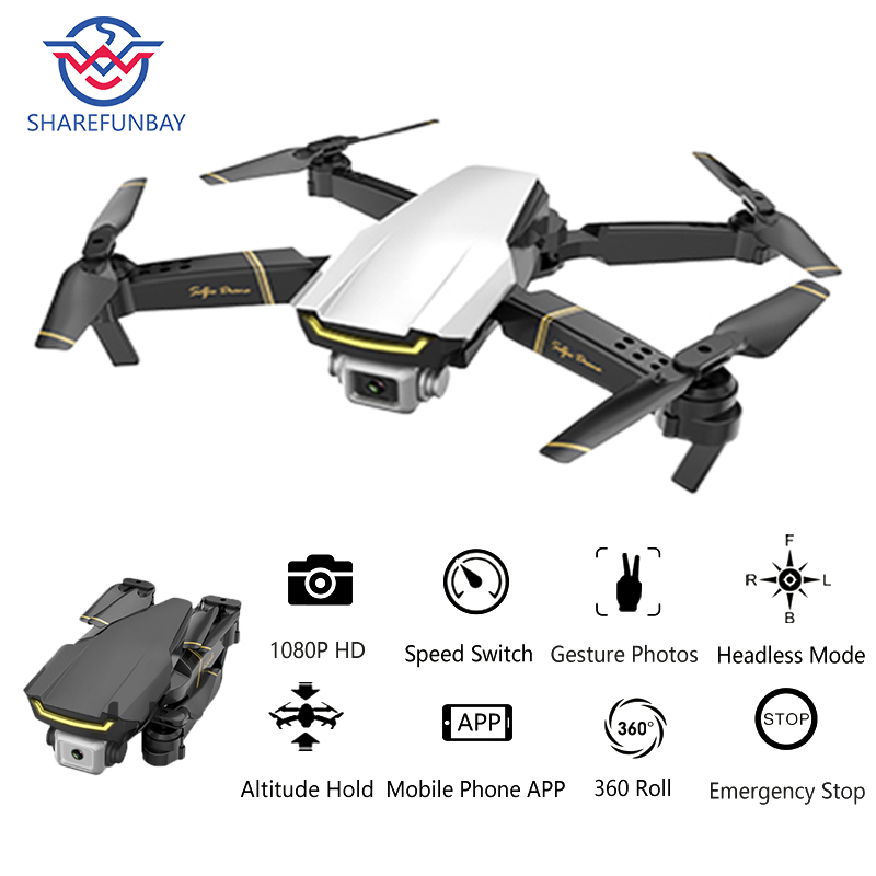 Global Drone GW89 Quadrocopter With Camera HD 1080P Helicopter RTF Folding RC Drone X Pro WIFI FPV Dron VS M69 E58 E520 SG106