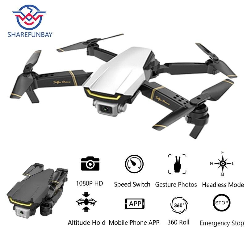 Zangão global gw89 quadrocopter com câmera hd 1080 p helicóptero rtf dobrável rc zangão x pro wifi fpv dron vs m69 e58 e520 sg106