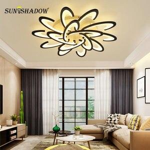 Image 3 - Beyaz led tavan ışık Modern ev avize tavan lambası oturma odası yatak odası için yemek odası LED parlaklık tavan Led armatür