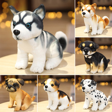 1pc 18/25CM Simulation Cute Dog Plush Toys Lovely Husky Akita Rottweiler Animal Dolls Stuffed Soft Toys for Kids Boys Xmas Gift