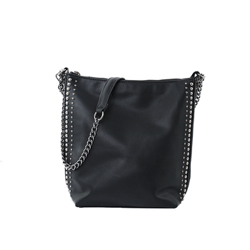 iVog New Arrival Everyday Female Small Fashion Messenger Crossbody Handbag Black Chain Clutch Bucket Bags for Women 2020 - discount item  35% OFF Women's Handbags