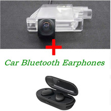 Reverse 1080P Car Rear view Camera for Peugeot 2008 3008 508 408 301 For Nissan Serena with HD Stereo TWS Bluetooth Earphones