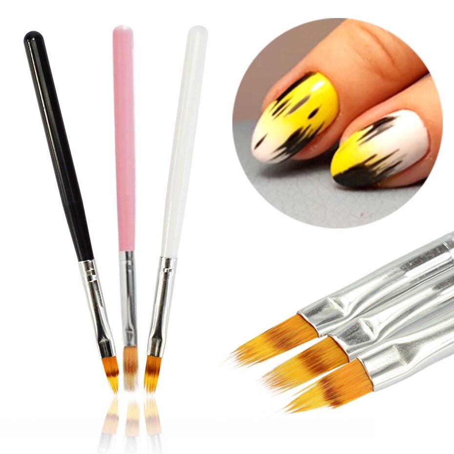 1pcs Nail Art Brush Gel Brush For Nail Art Ombre Soft Gradient Brush For Manicure Nail Polish Drawing Painting Decor Pen LA285-1