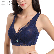 FallSweet Ultra Thin Lace Bras for Women Full Coverage Sexy Plus Size Bra 34 to 52