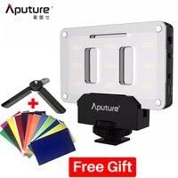 Apture AL M9 Pocket Mini LED Video Light TLCI/CRI 95+ w 6 Color Gels for Nikon DSLR Camera DJI Ronin S Zhiyun Crane 2 Stabilizer