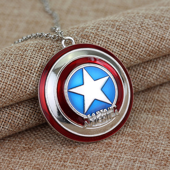 Superhero Captain America Cosplay Accessories Steve Rogers Round Shield Pendant Keychain jewelry Necklace Key Ring Kids Toy Gift 2 style captain america shield steve rogers cosplay prop superhero shield pu props halloween party toy 2pcs set