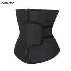 هيكسين حزام للبطن ارتفاع ضغط سستة حجم كبير حزام وسط لاتكس مشد مشد للجسم Fajas عرق مدرب خصر